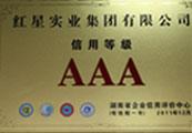2010.12紅星(xing)實業集團有限(xian)公司(si)AAA信用等級
