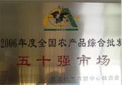 2006年(nian)度全國農產品綜合(he)批發五十(shi)強市場(chang)