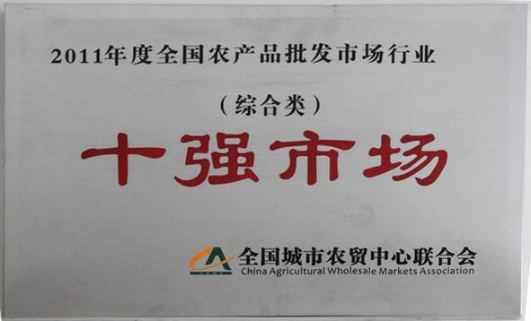 2011年(nian)度全國農產品批發市場(chang)行業十(shi)強市場(chang)(綜合(he)類)