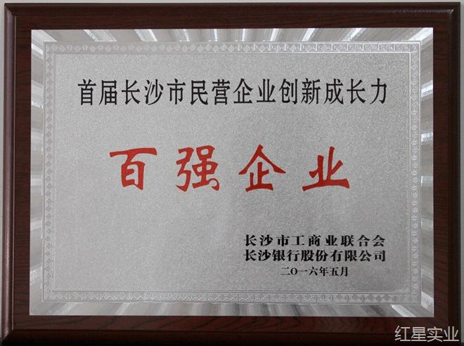 首屆長沙市民營企業(ye)創新成(cheng)長力100強